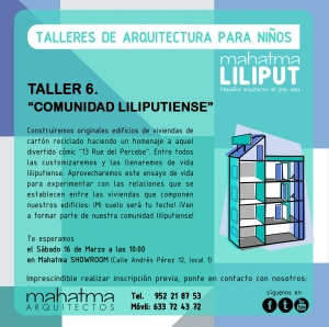 """Cartel del taller 6 . """"Comunidad liliputiense"""""""